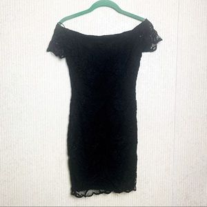 Ambiance Small Off The Shoulder Black Lace Dress